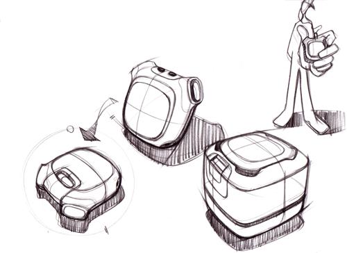 工业设计手绘图-Carlliu手绘教程 MP3随身听