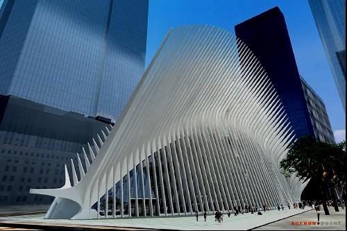财经资讯_纽约世贸中心交通枢纽工程开工(组图) - 视觉同盟(VisionUnion.com)