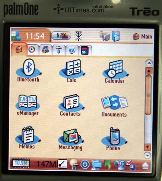 功能图标区可以放至最大-评测palmone智能电话Treo交互和界面设计