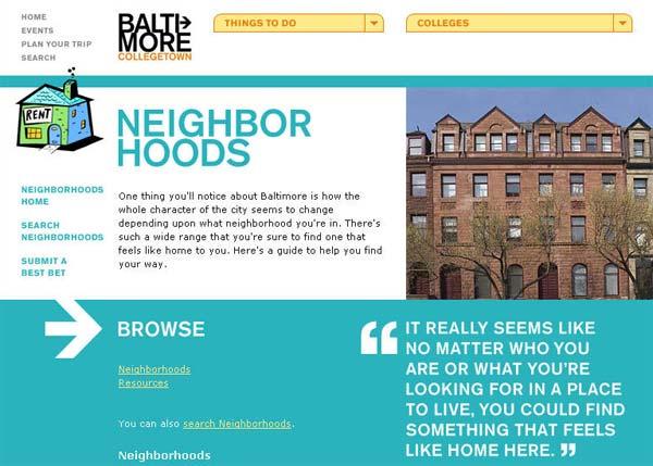 [酷站推荐]Baltimore Collegetown