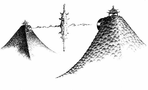 巴黎铁塔图片 筒笔画