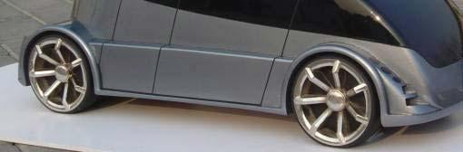 小比例汽车模型中轮胎的做法