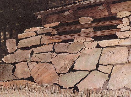 马克笔手绘表现石头木地板砖路材质教程