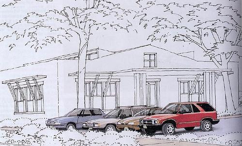 建筑效果图马克笔表现汽车教程