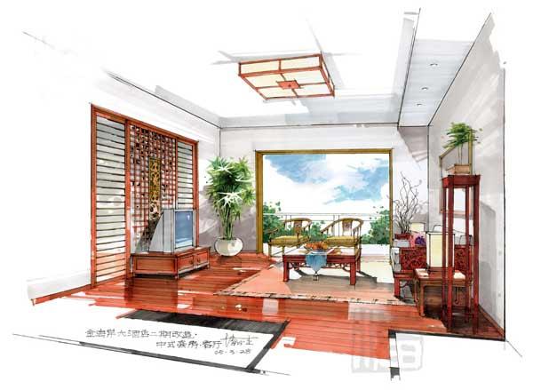 潘俊杰手绘室内效果图(2)