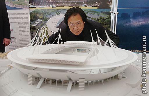 """[国际]黑川纪章设计圣彼得堡""""太空船""""运动场"""