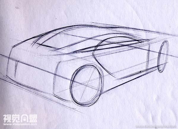 透视与汽车草图教程(4)全两点透视