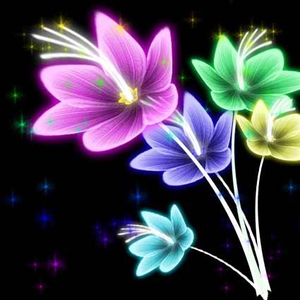 用Photoshop制作奇丽的花朵