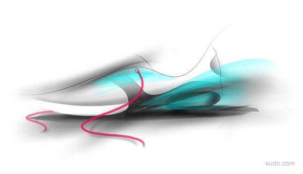 国外运动鞋草图设计欣赏(1)