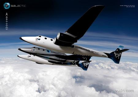 维珍航空新一代航天飞机spaceshiptwo
