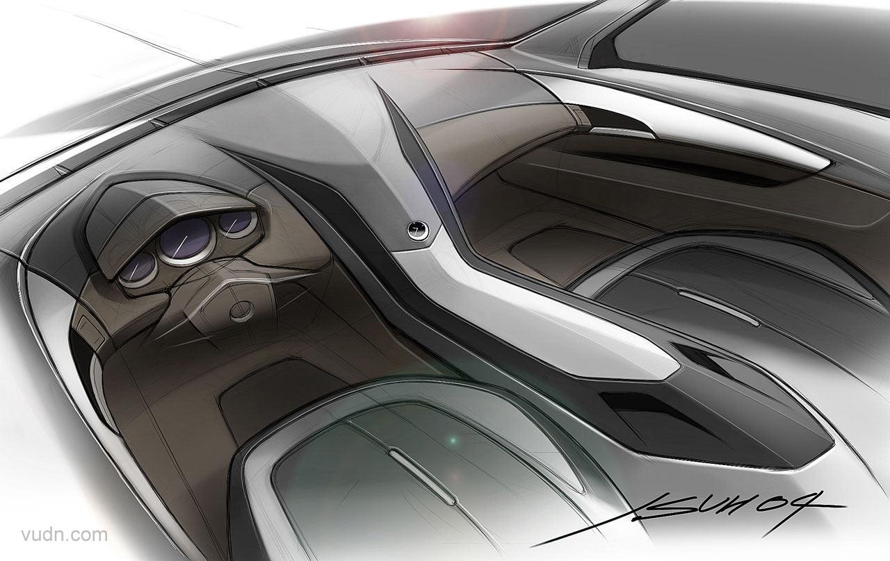 Cadillac CTS Coupe概念车基于CTS的轿车平台,外型是动感的掀背造型,悬架高度比CTS更低,采用了无B柱的设计;内部是经典的2+2布局,内饰使用皮革,碳纤维,铝材及不锈钢这些高级材料装饰,车灯和部分内部照明使用了高亮度的LED,Bose音响系统,卫星广播系统,导航装置;标配20英寸的镀铬铝合金轮毂,顶配是21英寸。