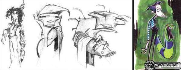 3d创意素描设计图片; 个3d动画短片的制作过程;