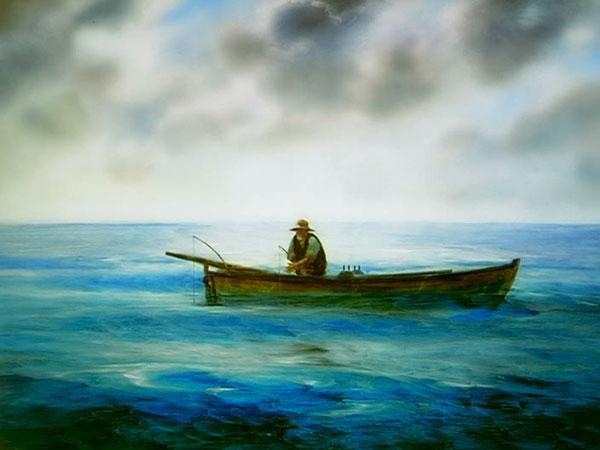 老人与海油画版_奥斯卡最佳动画短片《老人与海》 - 视觉同盟(VisionUnion.com)