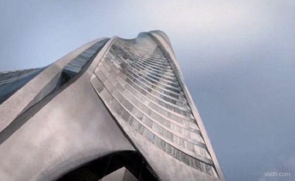 Santiago Calatrava为芝加哥设计了一个巨型尖塔Santiago尖塔。Santiago尖塔气势宏伟,有600米高,有150层,共1000套住宅。高高在上的俯视着整个城市。当整个工程2011年完工之后,它将成为世界第二高楼。不同于其他摩天大楼的多功能性,Santiago尖塔里面完全是住宅。 Santiago尖塔扭转螺旋线的设计的灵感来源于蜗牛背上螺旋的壳。每一层在下面一层基础上旋转2.