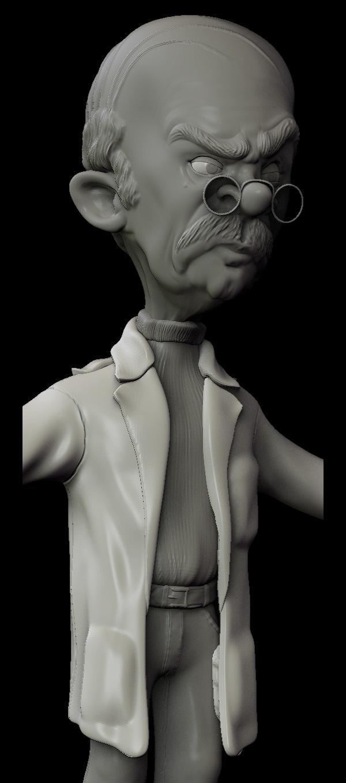 三维雕塑三视图