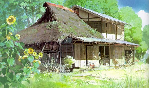 夏のトトロの森の中の家