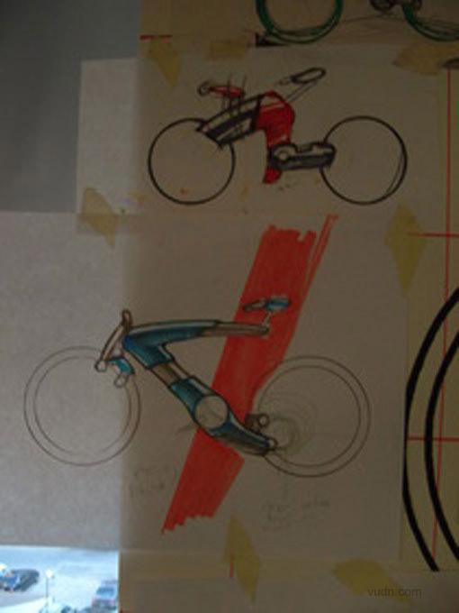 waugh无链条概念自行车设计
