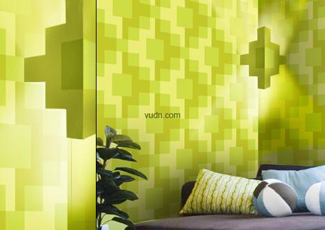 立体折纸式墙纸图片