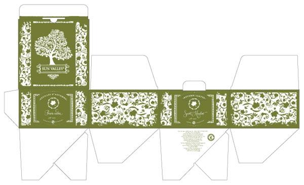 国外包装设计展开图