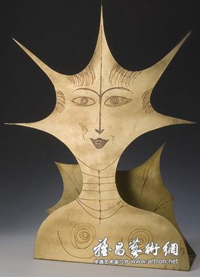 梵思�_吉奥·庞蒂作品:《裁剪思想》,由米兰梵思莱画廊展出