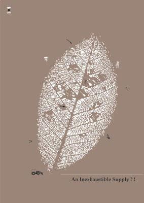 手绘 人与自然海报