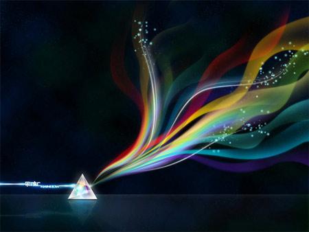 """娱乐资讯_绽放七色创意 """"RAINBOW彩虹""""壁纸设计大赛火热征集 - 视觉同盟 ..."""