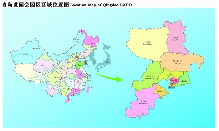 2014青岛世园会园区规划图