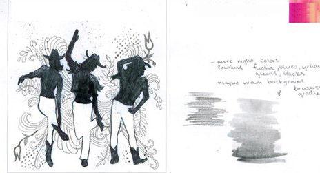 视觉设计黑白画