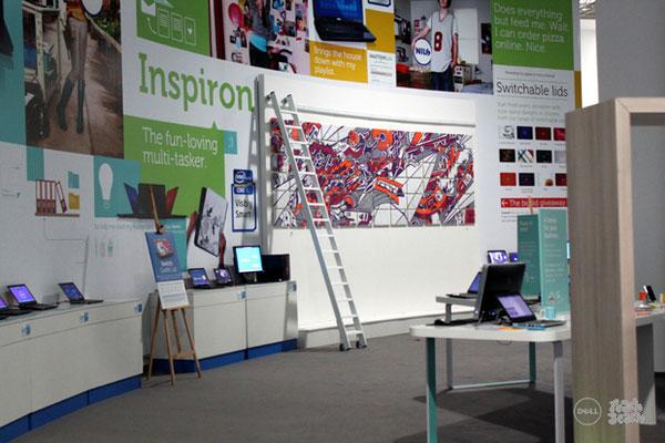 德国设计师为戴尔2011柏林ifa展览创作的手绘