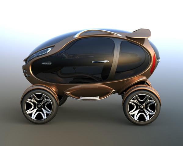 雪铁龙eggo概念电动车设计
