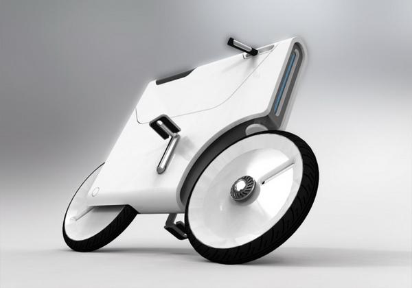 工业设计师 Yuji Fujimura设计的概念自行车Ver2。它的踏板和车把手是可以折叠的,由此很容易节省停车的空间,体现了对环境的友好。其次,Ver2配有锂电池运行机制,这意味着你可以使用它作为一个电动摩托车和电动自行车。