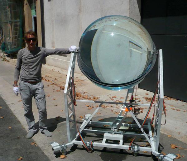 球面玻璃太阳能发电器设计