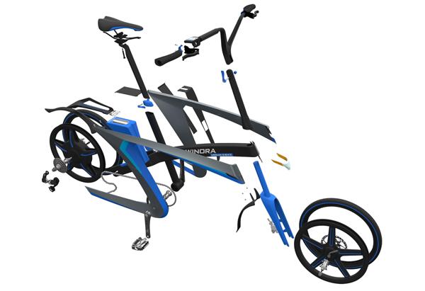 调整的自行车设计