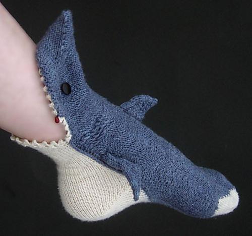 鲨鱼袜子创意设计图片