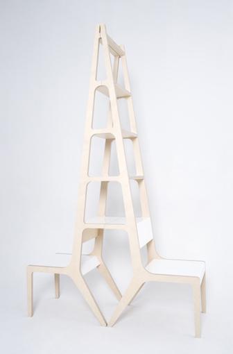 梯子椅子书架创意设计
