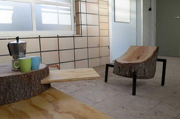 手工回收原木家具设计