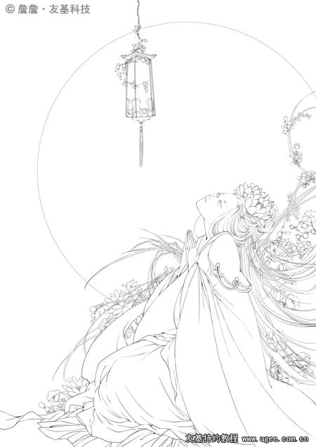 古风手绘常见花纹
