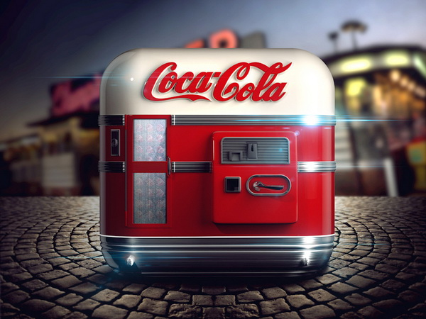 可乐贩卖机iOS Icon图标设计