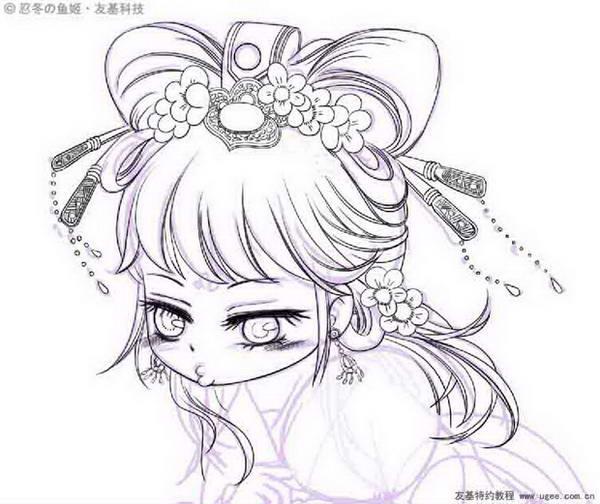 小公主苏非简笔画大全步骤