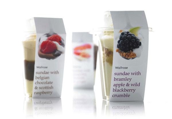 waitrose 甜品包装设计图片
