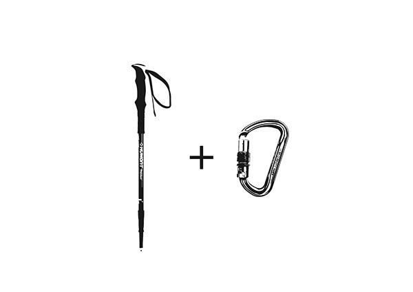登山最重要的东西是什么呢?登山竖钩和登山杖那么为什么不把它们结合在一起呢?李靖宇设计的这个多功能登山工具同时拥有了登山竖钩和登山杖的功能,并且将它们很好的结合在了一起,互不影响,十分方便。一个巧妙的结合不但让你少待了一个工具,而且让登山杖在背包上有了新的归宿,等你能够为你的背包再腾出一些空间。