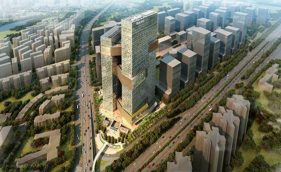广东互联网巨头深圳校园塔楼