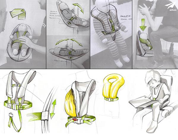飞机儿童座椅设计