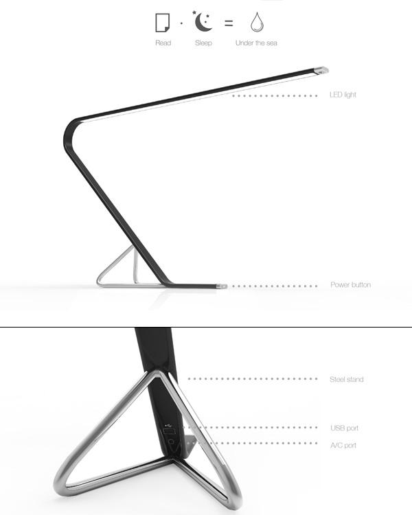 台灯创意设计图手绘图