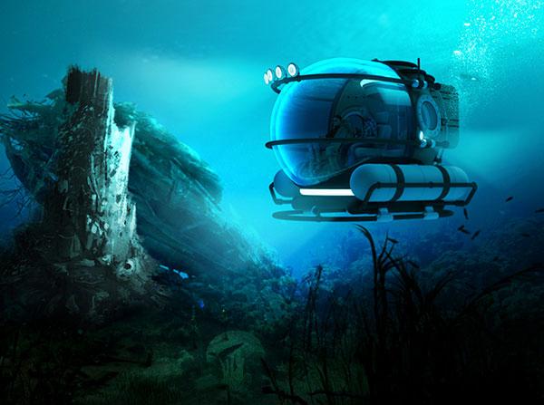 广阔的海洋总是充满着无限的美丽与神秘,这就让很多青年想要去探索它。为了让用户探索海洋更加的方便,安全,Eduardo Galvani设计了这个探索者潜艇。他拥有非常宽敞的空间和全透明的壁艇,让用户能够较为安全方便的探索海洋。除此之外,为了用户的安全,它采用了较为方便灵活的操作,强化了玻璃的强度以承受各种的撞击。独特的求救系统能够让遇到危险的用户也能够逢凶化吉。