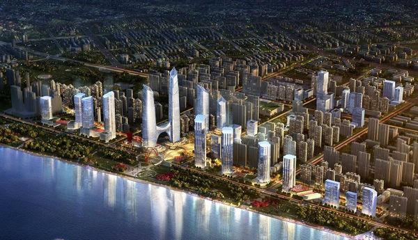 武汉青山区滨江商务区核心区(西
