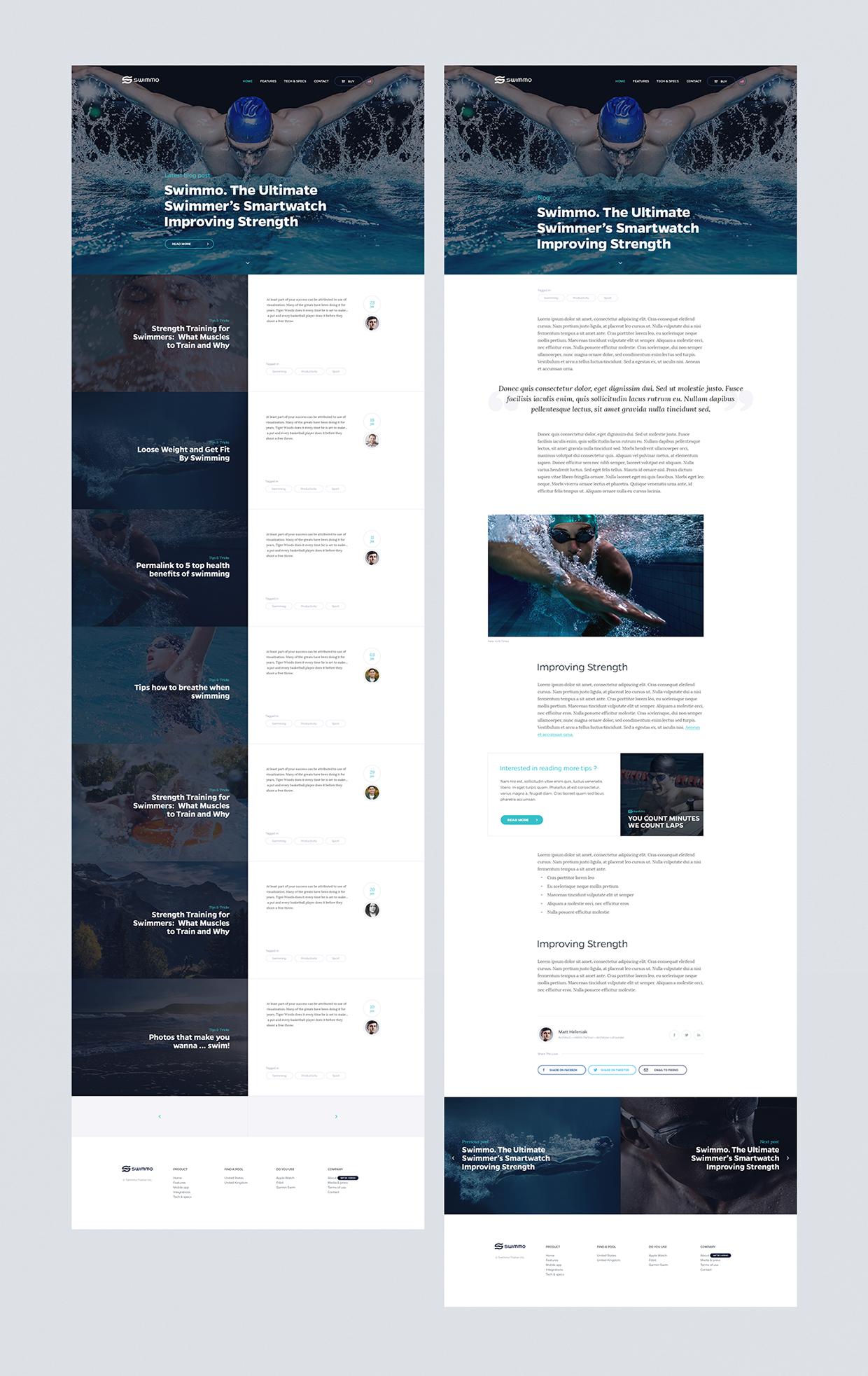 swimmo smart watch app及网页设计图片