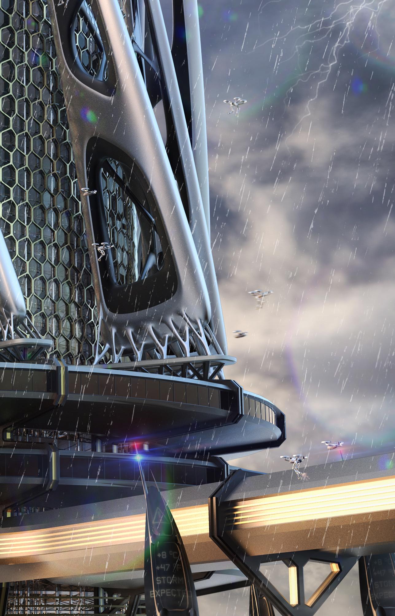 国际资讯_未来建筑设计 PILLARs of FLUX - 视觉同盟(VisionUnion.com)