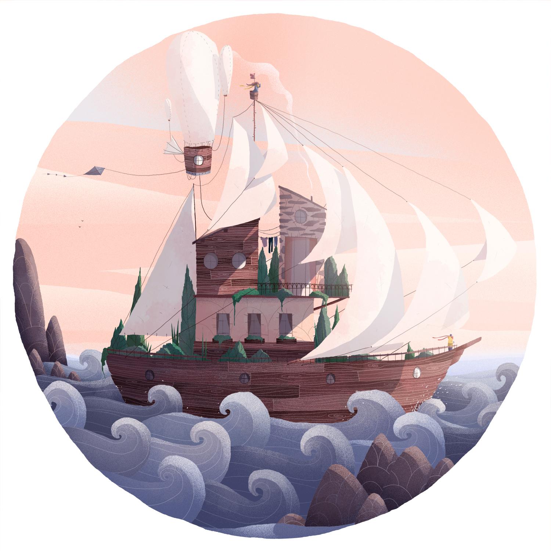 全球资讯_法国插画师Tristan Gion插画作品欣赏 - 视觉同盟(VisionUnion.com)