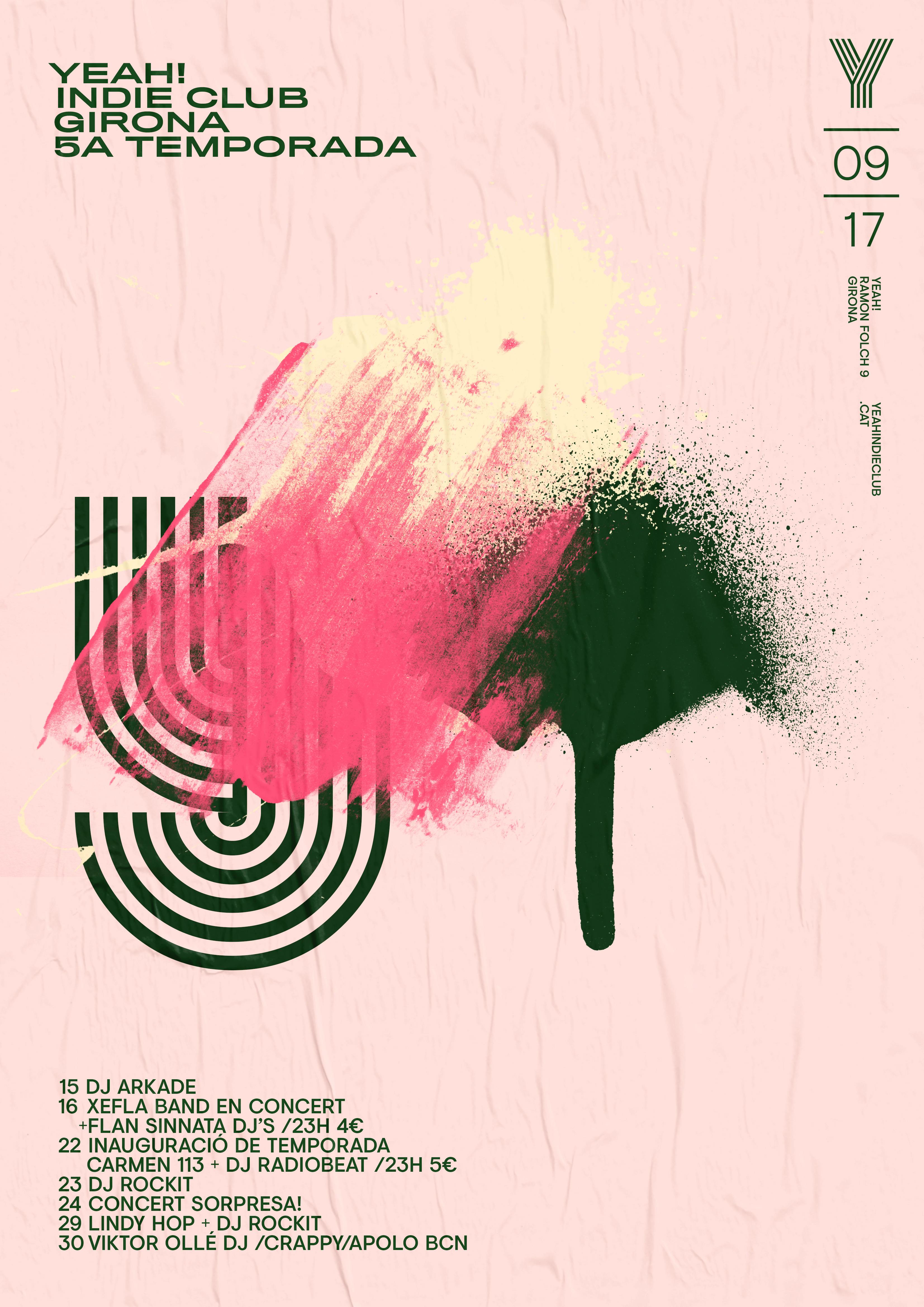 全球资讯_西班牙YEAH! IndieClub海报设计 - 视觉同盟(VisionUnion.com)